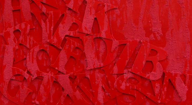 Paoloni arte for Quadri astratti rossi